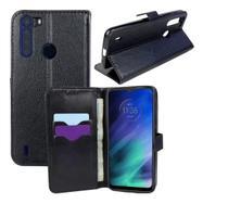 Capa Carteira (PRETA) Flip Antishock Porta Cartão Motorola Moto One Fusion XT2073 - Dvacessorios