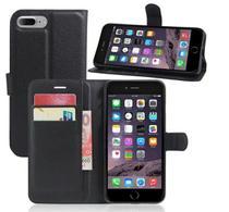 Capa Carteira (PRETA) Flip Antishock Porta Cartão P/ Iphone 7 Plus Iphone 8 Plus - Dvacessorios