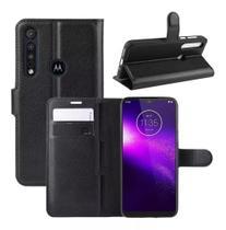 Capa Carteira (PRETA) Flip Antishock Porta Cartão P/ Motorola Moto G8 Plus - Dv Acessorios