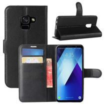 Capa Carteira (PRETA) Flip Antishock Porta Cartão P/ Samsung Galaxy A8+ Plus 2018 A730 6.0 - Dv Acessorios