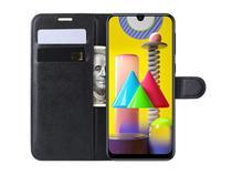 Capa Carteira (PRETA) Flip Antishock Porta Cartão P/ Samsung Galaxy M31 - Dv Acessorios
