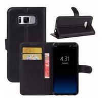 Capa Carteira (PRETA) Flip Antishock Porta Cartão P/ Samsung Galaxy S8+ Plus 6.2 - DV ACESSORIOS