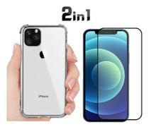 Capa Case Anti Impacto Iphone 12 + Pelicula de Vidro 9D - Flex