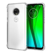 Capa Case Anti Impacto Protetora de Silicone  Motorola Moto G7 Play Transparente - Hrebos