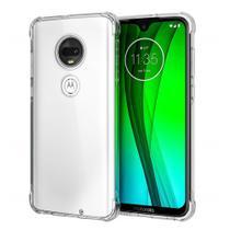Capa Case Anti Impacto Silicone Motorola Moto G7 E G7 Plus Transparente - Hrebos