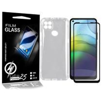 Capa Case Anti impacto transparente Reforçada + Pelicula vidro 3D Moto G9 Power XT2091-4 (Tela 6.5) - Cell In Power25