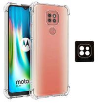 Capa Case Anti Quedas + Película Câmera Moto G9 Play + Kit Aplicação -