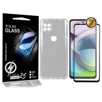 Capa Case Anti Shock E 2 Película De Vidro 3D MOTO G 5G XT2113-3 (Tela 6.7) CELL IN POWER25 -
