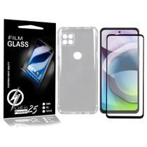 Capa Case Anti Shock E Película De Vidro 3D MOTO G 5G XT2113-3 (Tela 6.7) CELL IN POWER25 -