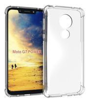 Capa Case Anti Shock Motorola Moto G7 + Pelicula De Vidro - Crystal