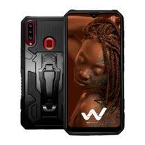 Capa Case Armor Magnética Clip Anti Impacto Para Samsung Galaxy A20s -