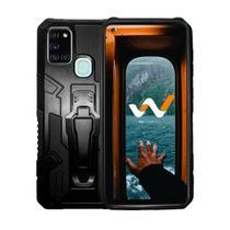 Capa Case Armor Magnética Clip Anti Impacto Para Samsung Galaxy A21s -