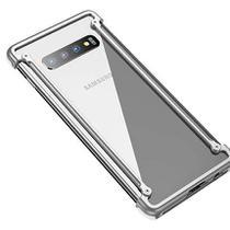Capa Case Bumper Metal Samsung Galaxy S10 Plus - Prata - Oem