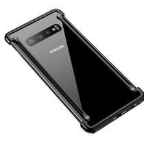 Capa Case Bumper Metal Samsung Galaxy S10 Plus - Preto - Oem