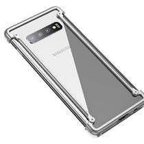 Capa Case Bumper Metal Samsung Galaxy S10e - Prata - Oem
