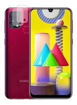 Capa Case Capinha + Película Vidro + Plc Cam Samsung M31 - Hrebos