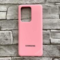 Capa Case Capinha Silicone Aveludada Samsung Galaxy S20 Plus - Rosa -