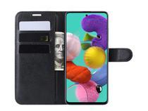 Capa Case Carteira Flip Cover Preta Samsung A51 SM-A515 - Ss