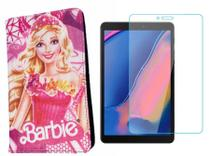 Capa Case da Barbie para Tablet Samsung Galaxy A8 SM T290/T295 + Película de Vidro - Fam