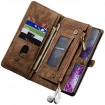 Capa Case Flip Carteira Galaxy S20 Plus + Tela 6.7 Premium Classica 2 em 1 Vintage Porta Cartões - Global Capas