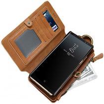 Capa Case Flip Carteira Para Galaxy S9 Plus Tela 6.2 Classica Premium Multi Cartões 2 em 1 - Global Capas