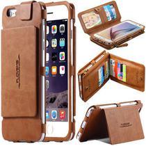 Capa Case Flip Carteira Para Iphone 5 5s SE Tela 4.0 Classica Premium Multi Cartões 2 em 1 - Global Capas