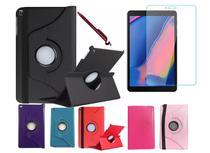 Capa Case Giratória Inclinável Tablet Samsung Tab A 8 SM-T290 T295 + Película Vidro + Caneta Touch - Resistente