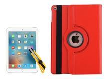 Capa Case Giratória iPad Mini 2 A1489 A1490 Couro Vermelha + Película de Vidro - Fam