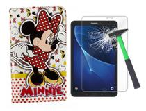 Capa Case Infantil Minnie Mouse para Tablet Samsung T280 T285 - 7 Polegadas + Película de Vidro - Anti Queda