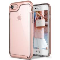 Capa Case Iphone 7 Ultra Leve Silicone Antiqueda Sky WB Rosa Ouro -