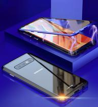 Capa Case Magnética Blindada Samsung Galaxy S10 Plus - Dourado - Oem