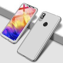 Capa Case Proteção 360 Samsung Galaxy A20 - Prata - Oem