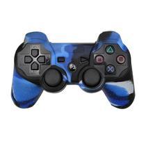 Capa Case Protetora de Silicone Gel Para Controle Playstation 3 Ps3 Camuflada Azul Preto e Branco FEIR FR-214/3 -