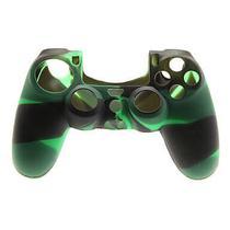 Capa Case Protetora de Silicone Gel Para Controle Playstation 4 Ps4 Camuflada Verde e Preto FEIR FR-214-4M -