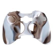 Capa Case Protetora de Silicone Gel Para Controle Xbox 360 Camuflada Marrom e Branco FEIR FR-314M -