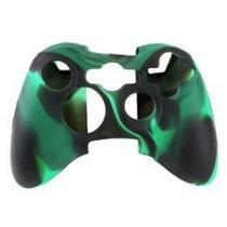 Capa Case Protetora de Silicone Gel Para Controle Xbox 360 Camuflada Verde e Preto FEIR FR-314M -