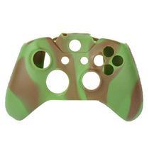 Capa Case Protetora de Silicone Gel Para Controle Xbox One Camuflada Verde e Marrom FEIR FR-314-1M -