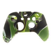 Capa Case Protetora de Silicone Gel Para Controle Xbox One Camuflada Verde Preto e Branco FEIR FR-314-1M -