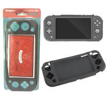 Capa Case Protetora De Silicone Para Nintendo Switch Lite Mikiman MK-SL204 CINZA -