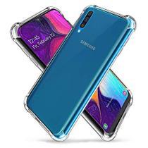 Capa Case Samsung Galaxy A50 Transparente Anti Shock + Película 3D de Vidro - 3d+
