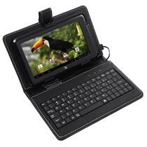 "Capa Case tablet 7"" Com Teclado Usb + cabo otg + caneta - Hoopson"