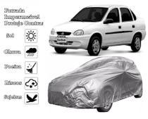 Capa Cobrir Carro Corsa Sedan Classic Forrada e 100% Impermeável Bezz Protege Sol e Chuva - Zna Bezzter