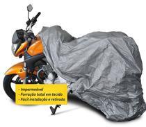Capa Cobrir MOTO Impermeável Forrada Tam G - Garagem12