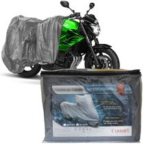 Capa Cobrir Moto Protetora Forrada Impermeável Anti Uv Tamanho P M G GG Carrhel -