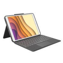 Capa com teclado e touch pad logitech p  ipad pro 10 5  e air 3  gera  o -