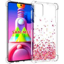 Capa Corações Anti Quedas Samsung Galaxy M51 - Jfo.Comercio