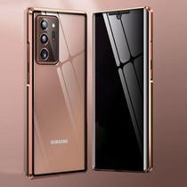 Capa Crystal Magnética Anti Curioso Samsung Galaxy Note 20 Ultra  Dourado - Oem
