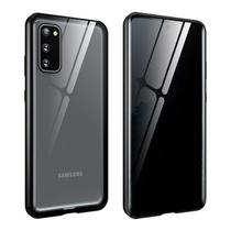 Capa Crystal Magnética Anti Curioso Samsung Galaxy S20  Prata - Oem
