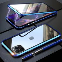 Capa Crystal Magnética iPhone 12  Azul - Oem