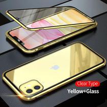 Capa Crystal Magnética iPhone 12  Dourado - Oem